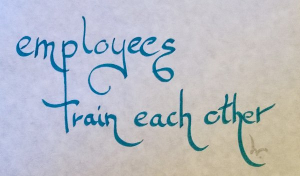 employees train each other